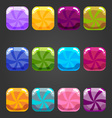 Set of shiny square button candy vector image