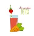 Detox icon Organic food design graphic vector image