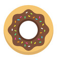 donut flat icon food and drink sweet sign vector image
