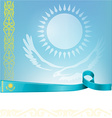 kazakhstan ribbon flag on background vector image