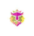 lion head color vector image