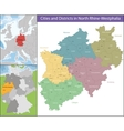 Map of North Rhine-Westphalia vector image