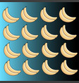 pattern of ripe bananas on a blue background vector image