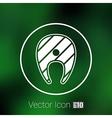 salmon steak fish design icon logo vector image