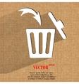 Trash bin Flat modern web button on a flat vector image