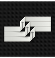White paper tape vector image