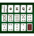 Playing cards Set Spades vector image