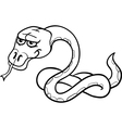 snake cartoon for coloring book vector image vector image