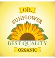 Natural organic best quality sunflower oil label vector image vector image