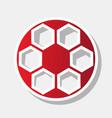 soccer ball sign  new year reddish icon vector image