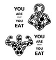 healthy lifestyle black and white vector image
