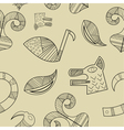 Seamless texture with elements of the animal style vector image