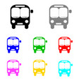 bus set in multiple colors vector image