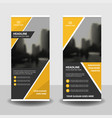 yellow business roll up banner flat design vector image