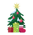 christmas concept flat style vector image vector image