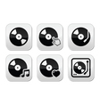 Vinyl record dj buttons set vector image vector image