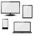 monitor laptop tablet computer and mobile phone vector image