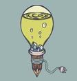 Strange Green Lamp Creative Design vector image