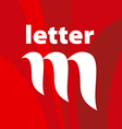 logo the letter M on a red background vector image