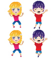Little Boy and Girl vector image