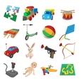 Toys cartoon icons set vector image