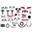 Design elements for motosport and racing vector image