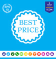 best price label icon vector image