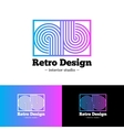 bright abstract gradient logo Q and B vector image