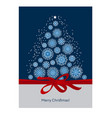classic merry christmas and happy new year vector image