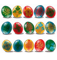 easter egg with ethnic and floral pattern isolated vector image