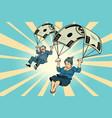 golden parachute financial compensation vector image