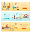 Paris Horizontal Banners Set vector image