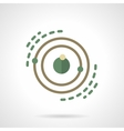Planet system model flat color icon vector image
