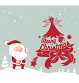 Merry Christmas greeting card santa claus vector image