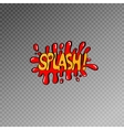 multicolored comic sound effects in pop art style vector image vector image