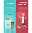 Housekeeping Vertical Banners vector image