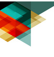 abstract colorful geometric template vector image