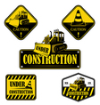 Set of under construction emblems labels vector image