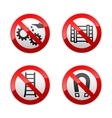 set prohibited signs - technical symbols vector image