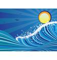 Cartoon Stormy Sea2 vector image
