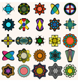 Abstract design elements collection vector image