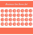 business line color icons set vector image