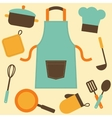 cooking utensils and kitchenware icons vector image