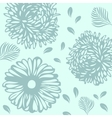 Floral pattern in autumn colors vector image