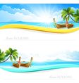 Paradise Island backgrounds vector image