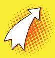 pop art arrow vector image
