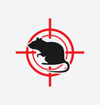 rat icon red target vector image