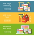 Responsive web design application development and vector image