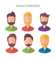 set of different flat male characters vector image