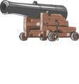 ship gun vector image